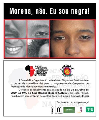 Lançamento da Campanha de Promoção da Identidade Negra na Paraíba