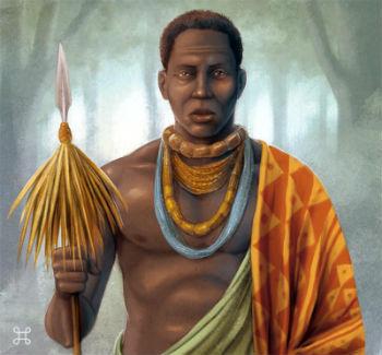 Ilustração representando Ganga Zumba (Foto: Imagem retirada do site Toda Matéria)