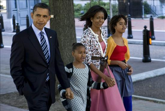 Filhas de Obama se vacinam contra gripe A