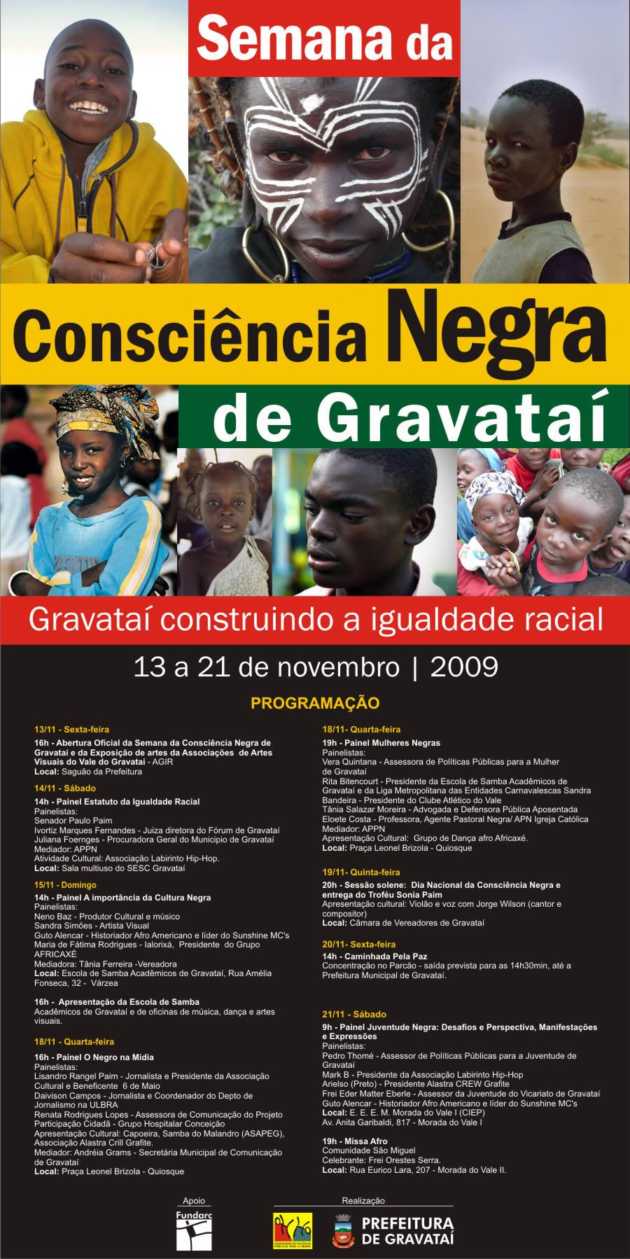 GRAVATAI: Semana da Consciência Negra