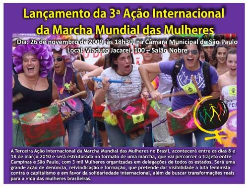 Lançamento da 3ª Ação Internacional da Marcha Mundial das Mulheres