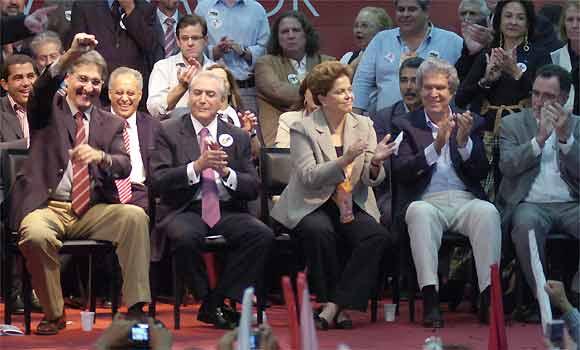 Dilma e Temer oficializam chapa PT-PMDB ao governo de Minas
