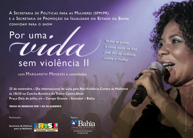 Show Por Uma Vida sem Violência - Margareth Menezes