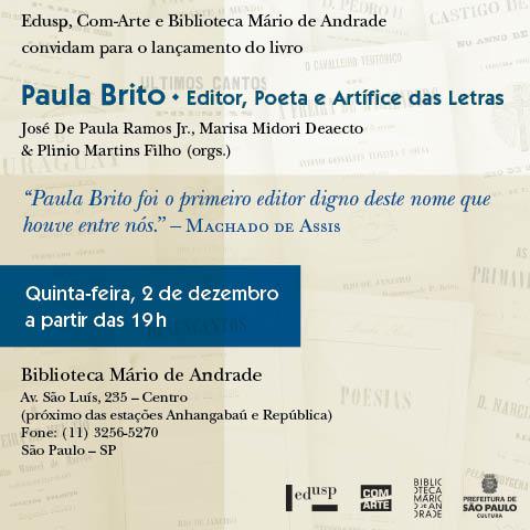Paula Brito: Editor, Poeta e Artífice das Letras