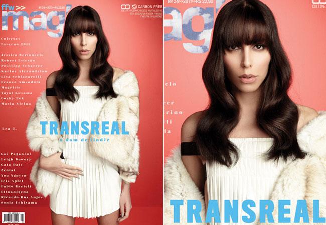 Lea T estrela sua primeira capa de revista brasileira