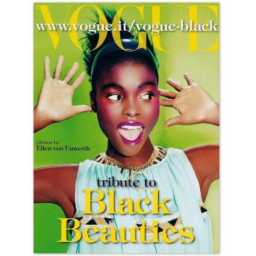 Vogue Itália de maio ressalta a beleza negra