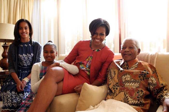 Michelle Obama visita Nelson Mandela na África do Sul