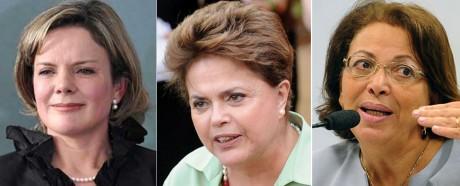 Dilma, Ideli e Gleisi: se der certo, Brasil entra na fase lilás