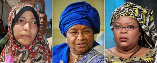 Três mulheres dividem o Prêmio Nobel da Paz de 2011