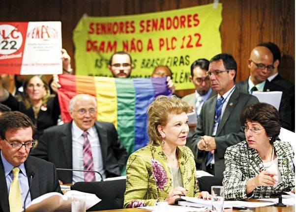 Projeto sobre homofobia adiado