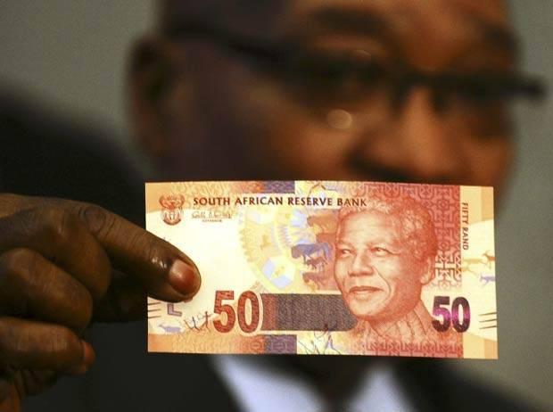 África do Sul emite dinheiro com a imagem de Nelson Mandela