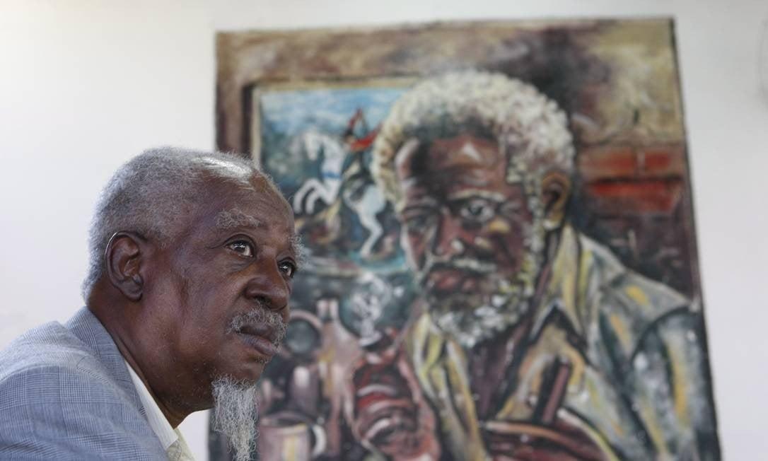 Caó durante uma homenagem em 2013 (Foto: Eduardo Naddar / Agência O Globo/ Arquivo)