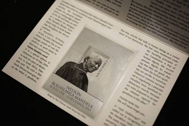 África do Sul emite selo comemorativo de Mandela