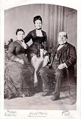 Típica família friburguense oitocentista.