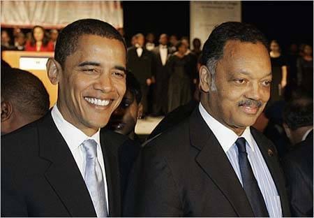 Presidente Barack Obama e Reverendo Jesse Jackson