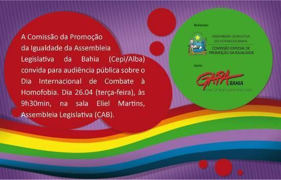 Combate à homofobia é tema de audiência da Comissão da Igualdade