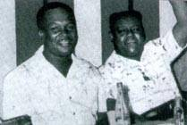 Duke Reid (E) e Fats Domino (D)