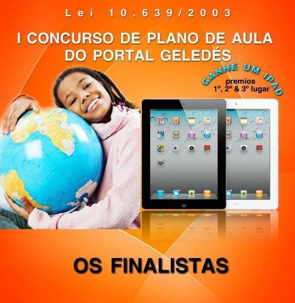Finalistas do I Concurso de Plano de Aulas do Portal Geledes