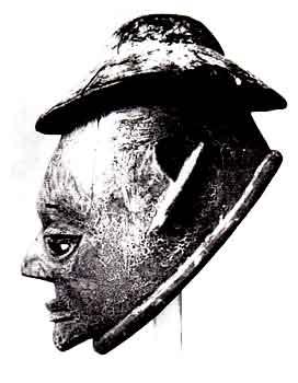Imagens jocosas de funcionários coloniais