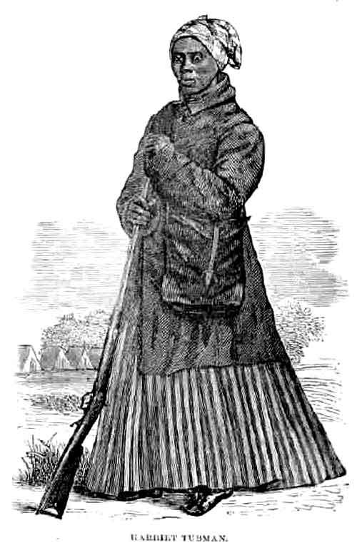Litografia de Tubman com o traje usado na Guerra Civil