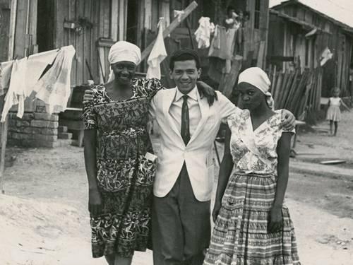 Da esquerda para a direita: Carolina Maria de Jesus, Audálio Dantas (jornalista) e Ruth Souza.