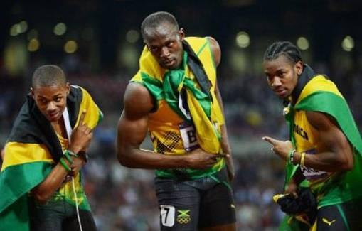 Os Herois velocistas da Jamaica