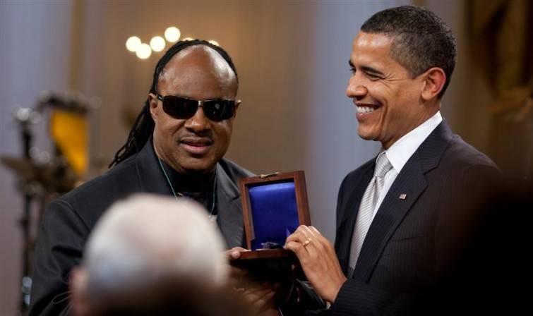Stevie Wonder e Barback Obama