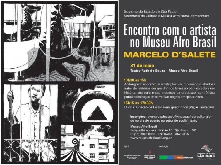 Marcelo D'Salete: Encontro com o artista no Museu Afro Brasil - 31 de Maio