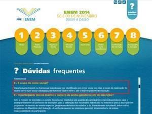 Site do Enem traz o passo a passo da inscrição (Foto: Reprodução/Inep)