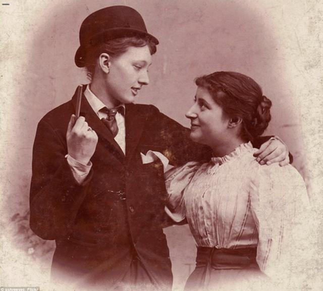 Casal vitoriano na década de 1890.