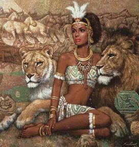 Rainha Kahina Morreu em 705 AD. Lutou contra a incursão árabe no Norte da África