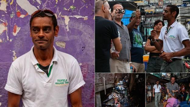 'Respire fundo, isso que é violência', diz guia de turismo sobre esgoto na Rocinha