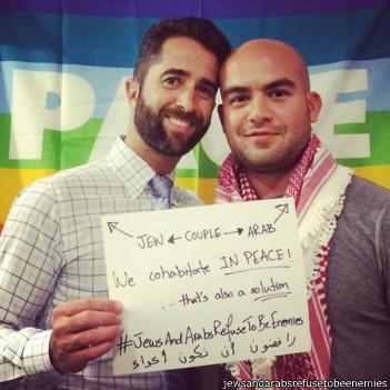 O árabe Salem e o judeu Matt também são um casal