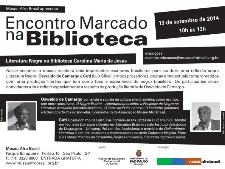 Oswaldo de Camargo e Cuti no Museu Afro Brasil