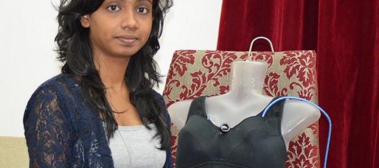 Índia: jovem cria sutiã elétrico para proteger mulheres contra estupro