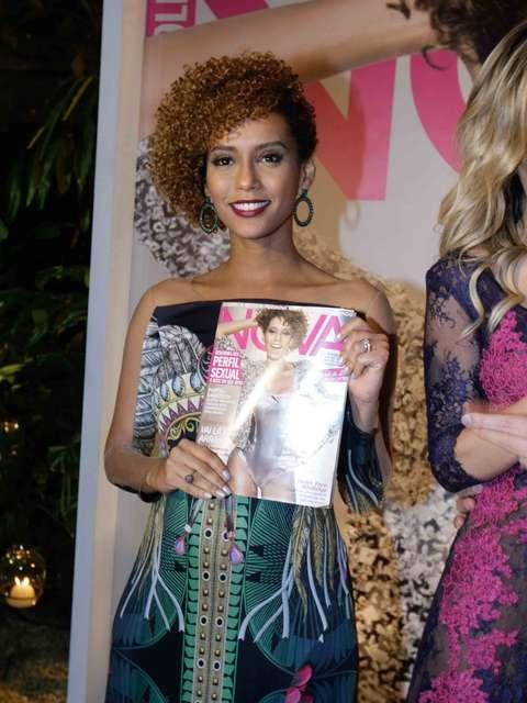'Muito hormônio feminino', diz Taís Araújo sobre gravidez