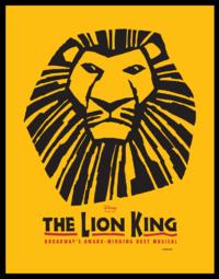 O poster oficial do O Rei Leão - Musical (Foto: Divulgação/ The Lion King Musical)
