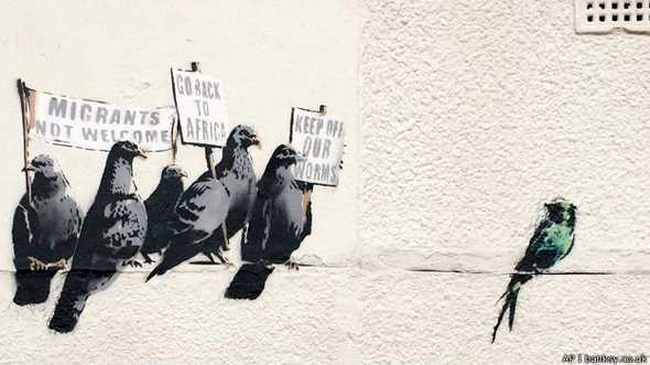 Considerado 'racista', grafite de Banksy é destruído na Inglaterra