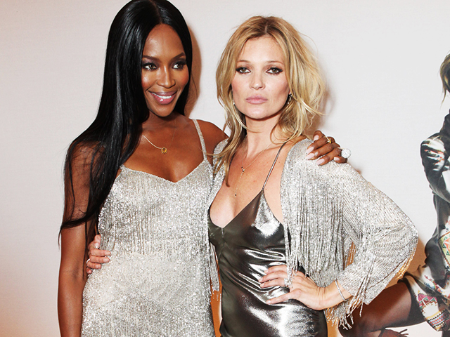 Kate Moss e Naomi Campbell (Foto: (Photo by David M. Benett/Getty Images)