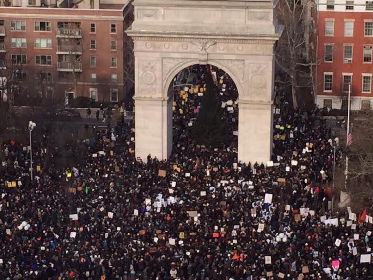 protesto4 Marchas e protestos contra o racismo levam norte americanos às ruas