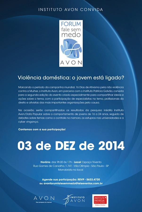 Instituto Avon discute violência doméstica e o crime da cybervingança no Fórum Fale sem Medo