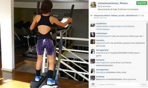 Blogueira fitness com 9 anos?
