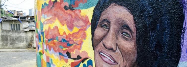 Dodô da Portela é homenageada em grafite