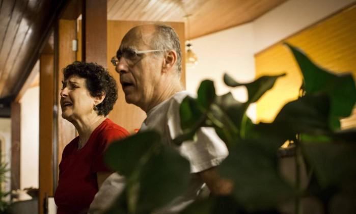 O engenheiro Tom Malki e sua esposa - Guito Moreto / Agência O Globo