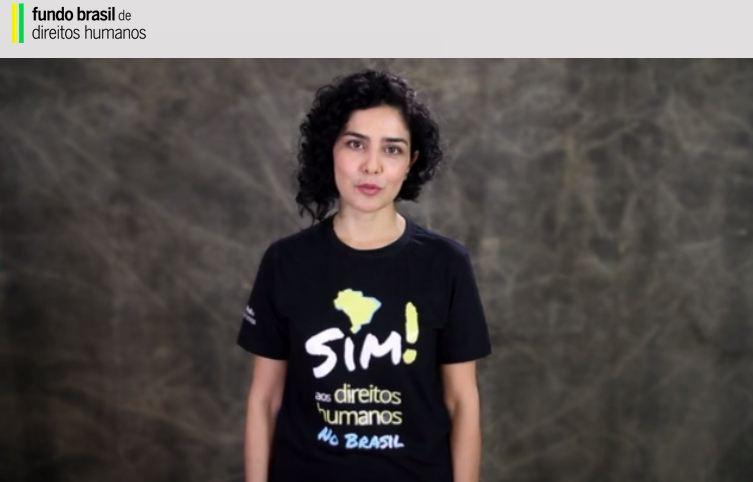 Letícia Sabatella participa de campanha por direitos humanos