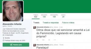 """Em pleno Dia da Mulher, juiz federal brinca com """"assassinato"""" de Dilma"""