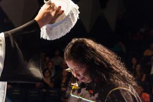 Maria Cecilia Barbosa, que se tornou bisavó enquanto fazia o curso, recebeu homenagem especial. Foto: Henrique Almeida/Agecom/DGC/UFSC