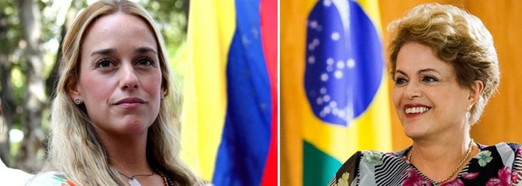 Mulher de opositor venezuelano elogia Dilma
