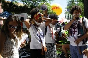 Ato em protestos contra os altos índices de feminicídios na região do Cariri. Em 31 de Maio, na cidade de Barbalha (CE) (Imagem: Arquivo Pessoal)