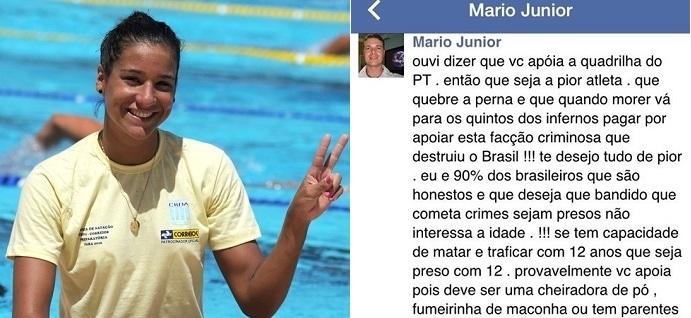 Joanna Maranhão é ameaçada após criticar a redução da maioridade penal